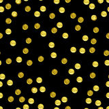 Golden glitter seamless background Royalty Free Stock Photos