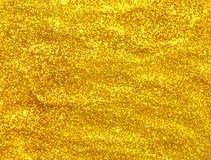 Golden glitter seamless texture. Stock Image