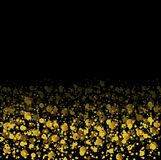 Golden glitter shiny particles abstract background Royalty Free Stock Photo