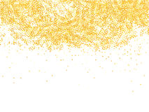 Golden glitter shower. On white background Royalty Free Stock Images