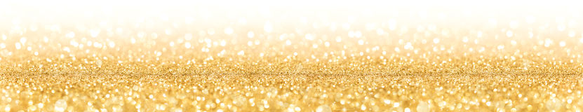 Golden Glitter With Sparkle Of Lights