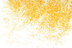 Golden glitter sparkle on white. Background Royalty Free Stock Photography