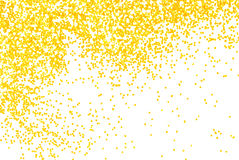 Golden  glitter sparkle on white Royalty Free Stock Photo