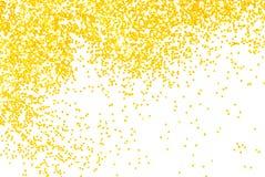 Golden  glitter sparkle on white. Background Royalty Free Stock Photo