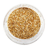 Golden glitter sparkle Stock Photo