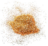 Golden glitter sparkle Royalty Free Stock Image