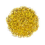 Golden glitter. Sparkles on white background. Glowing elements Royalty Free Stock Image