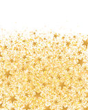 Golden glitter star bottom card. Illustration white color background golden color glitters stars decor graphic element card design Royalty Free Stock Image