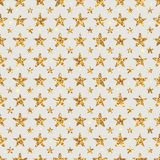 Golden Glitter star flower symmetry seamless pattern Royalty Free Stock Images