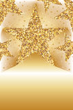 Golden glitter star way card template Royalty Free Stock Images