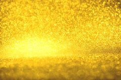 Golden glitter texture Colorfull Blurred abstract background for birthday, anniversary, wedding, new year eve or Christmas Royalty Free Stock Photo