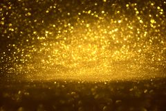 Golden glitter texture Colorfull Blurred abstract background for birthday, anniversary, wedding, new year eve or Christmas Stock Photography
