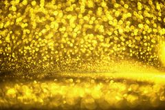 Golden glitter texture Colorfull Blurred abstract background for birthday, anniversary, wedding, new year eve or Christmas.  Stock Photos