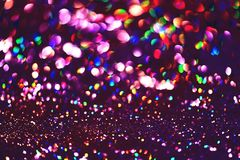 Golden glitter texture Colorfull Blurred abstract background Stock Image