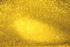 Golden glitter texture Colorfull Blurred abstract background for birthday, anniversary, wedding, new year eve or Christmas Stock Images