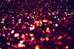 Golden glitter texture Colorfull Blurred abstract background Stock Images