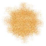 Golden glitter texture splash on white background Royalty Free Stock Photo