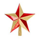 Golden glittering Christmas star Royalty Free Stock Photography