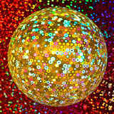 Golden Glittering Disco Ball Stock Images