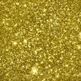 Golden glittering fractals background Stock Images