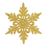 Golden glittering snowflake Royalty Free Stock Image