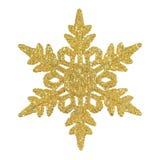 Golden glittering snowflake