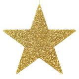 Golden glittering star ornament Stock Image