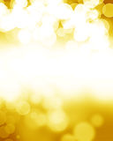 Golden glitters Royalty Free Stock Images