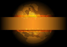 Golden global background design Royalty Free Stock Images