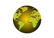 Golden Globe Imagen de archivo libre de regalías