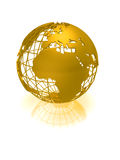 Golden globe Royalty Free Stock Images