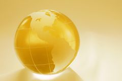 Golden globe of the americas Royalty Free Stock Photos