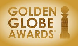 Golden Globe Awards en tipografía libre illustration