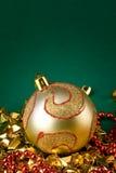 Golden globe card Royalty Free Stock Image