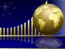 Golden Globe con il diagramma Fotografie Stock