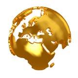 Golden Globe Continentes de oro Fotos de archivo libres de regalías