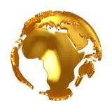 Golden Globe Continenti dorati Immagini Stock