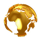 Golden Globe Continents d'or Images stock