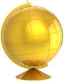 Golden globe desctop Earth planet symbol Stock Photos