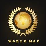Golden Globe-Erde Auch im corel abgehobenen Betrag Stockbilder