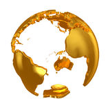 Golden Globe. Golden continents Royalty Free Stock Photography