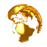 Golden Globe. Golden continents Stock Images