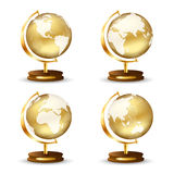 Golden globe Stock Images