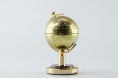 Golden Globe su priorità bassa bianca Fotografia Stock Libera da Diritti
