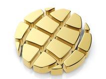 Golden globe symbol Royalty Free Stock Photography