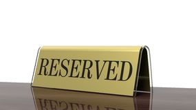 Golden glossy reservation Stock Photography