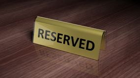 Golden glossy reservation Royalty Free Stock Photo