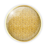 Golden Glossy Template Vector Illustration Royalty Free Stock Photography