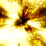 Golden glowing background with stars and circles Royalty Free Stock Image