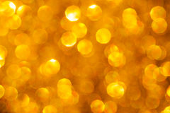 Golden Glowing Bokeh Stock Photo